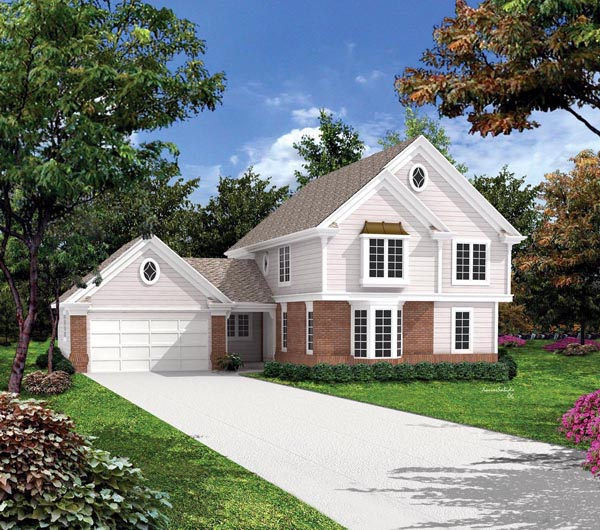 Traditional House Plan 86956 with 5 Beds, 3 Baths, 2 Car Garage Elevation