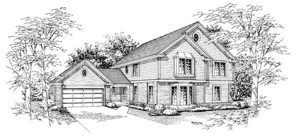 Traditional House Plan 86956 with 5 Beds, 3 Baths, 2 Car Garage Picture 3