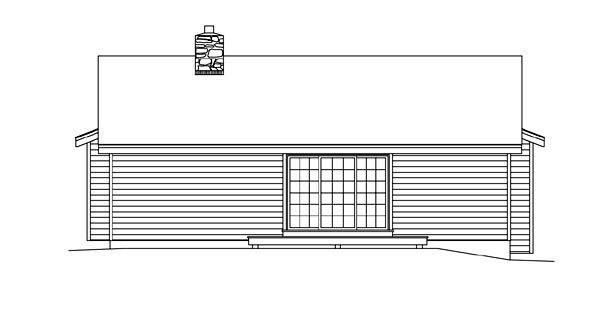 Cabin Cottage Country Ranch House Plan 86957 Rear Elevation