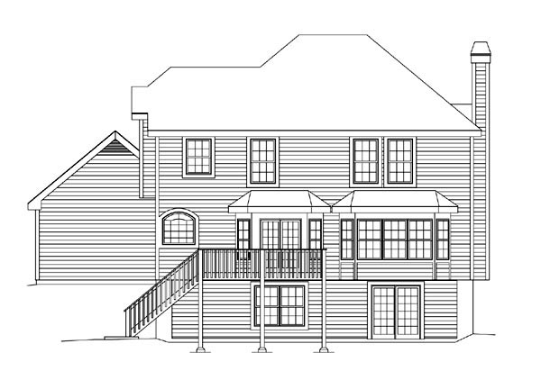 Traditional House Plan 86958 Rear Elevation