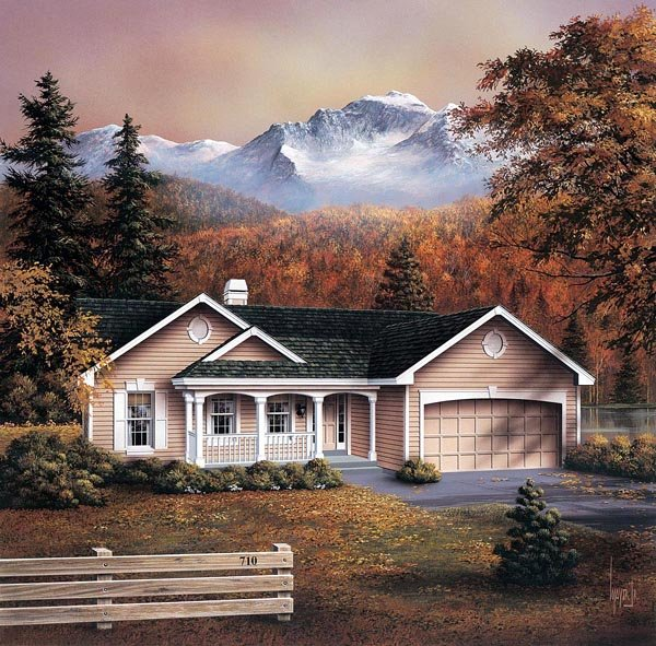 Country Ranch Traditional House Plan 86959 Elevation