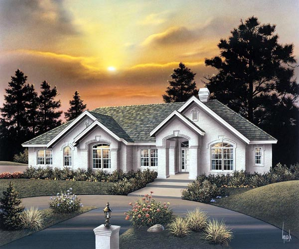 Ranch House Plan 86961 Elevation