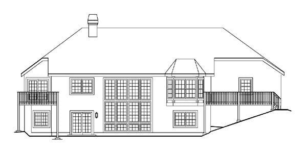 Ranch House Plan 86961 Rear Elevation