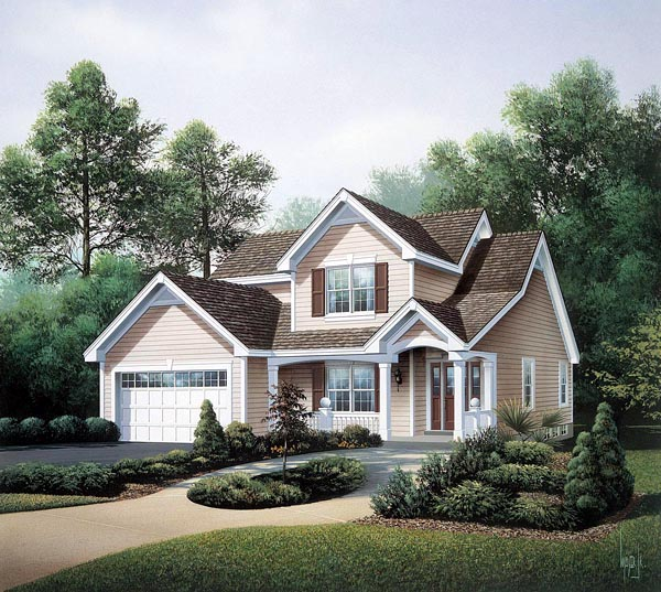Contemporary Traditional House Plan 86971 Elevation