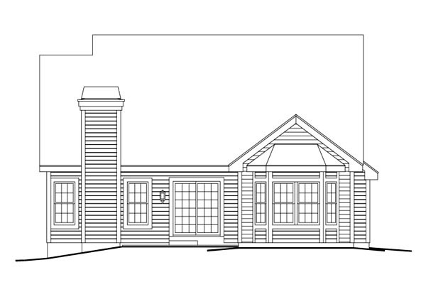 Contemporary Traditional House Plan 86971 Rear Elevation