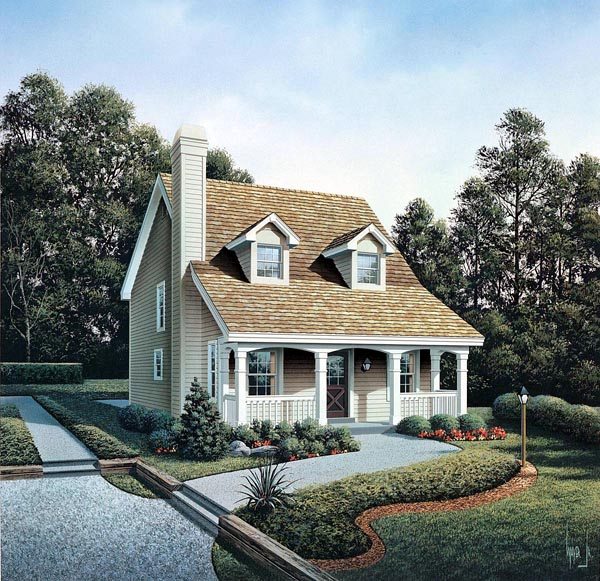 Cabin Cape Cod Cottage Country House Plan 86973