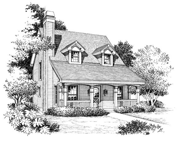 Cabin, Cape Cod, Cottage, Country House Plan 86973 with 3 Beds, 3 Baths Picture 3