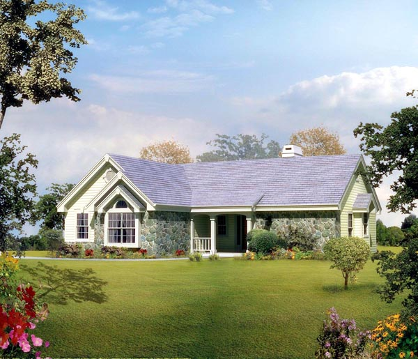 Country, Ranch, Traditional House Plan 86983 with 2 Beds, 2 Baths, 2 Car Garage Elevation