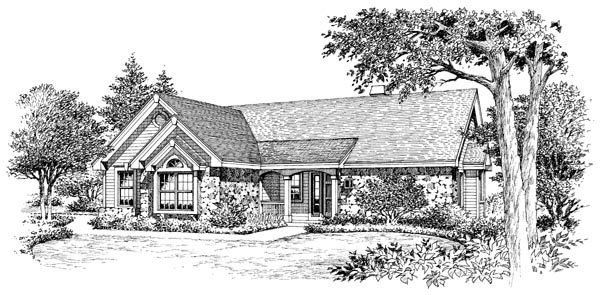 Country, Ranch, Traditional House Plan 86983 with 2 Beds, 2 Baths, 2 Car Garage Picture 3