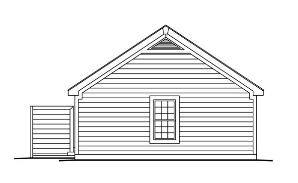 Cabin Cottage Ranch Traditional House Plan 86988 Rear Elevation