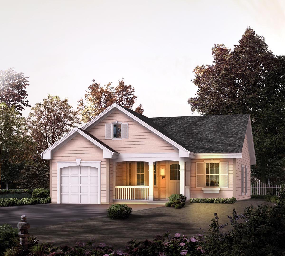Country Cottage Elevation : House plan familyhomeplans