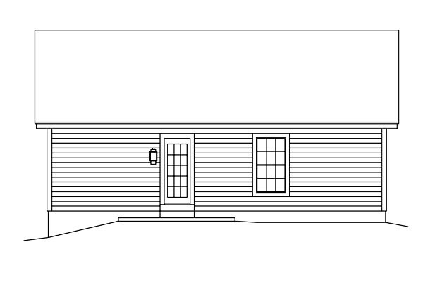 Cabin Cottage Country Ranch Traditional House Plan 86989 Rear Elevation