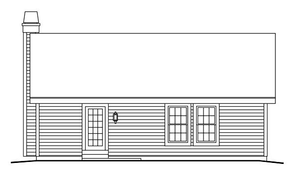 Cabin Cottage Country Ranch Traditional House Plan 86990 Rear Elevation