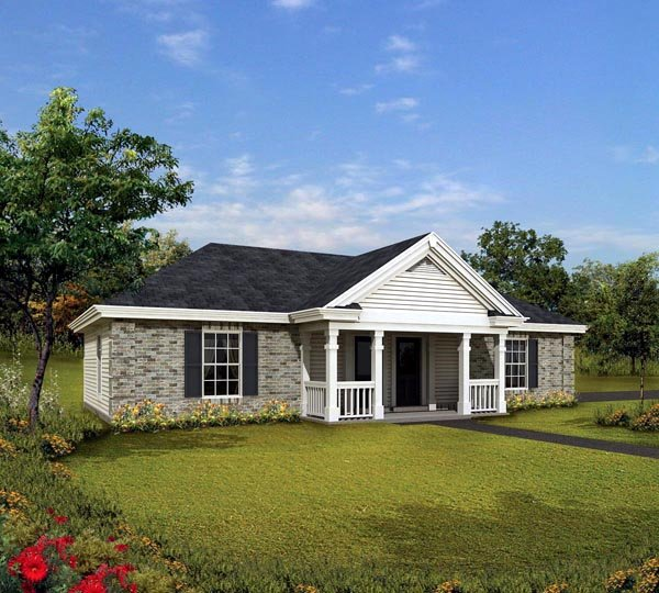Cabin Cottage Country Ranch Traditional House Plan 86995 Elevation