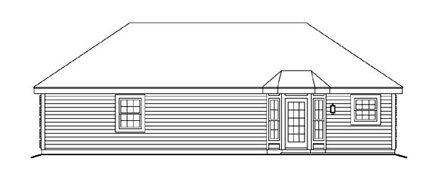 Cabin Cottage Country Ranch Traditional House Plan 86995 Rear Elevation
