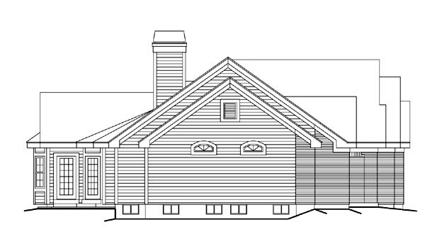 Retro, Traditional House Plan 86997 with 3 Beds, 3 Baths, 2 Car Garage Picture 1