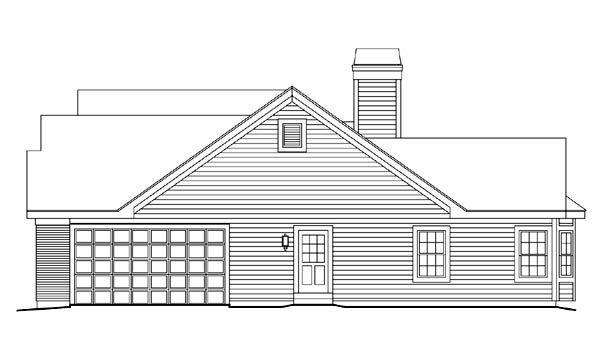 Retro, Traditional House Plan 86997 with 3 Beds, 3 Baths, 2 Car Garage Picture 2
