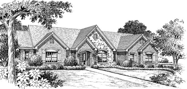 Retro, Traditional House Plan 86997 with 3 Beds, 3 Baths, 2 Car Garage Picture 3