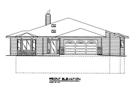 Traditional House Plan 87032 Rear Elevation