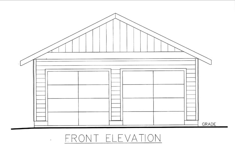 Front Elevation With Garage : Garage plan at familyhomeplans