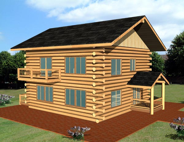 Narrow Lot Style House Plan 87082 with 2 Bed, 2 Bath on log home plans wrap around porch, log home plans ranch, log home plans small, log home plans prairie style, log home plans cottage, farmhouse narrow lot, log home plans passive solar,