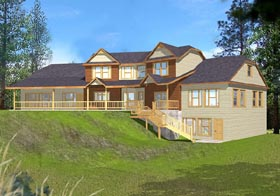 House Plan 87088 with 4 Beds, 3.5 Baths, 2 Car Garage Elevation