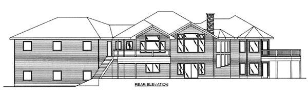 Contemporary Ranch House Plan 87123 Rear Elevation