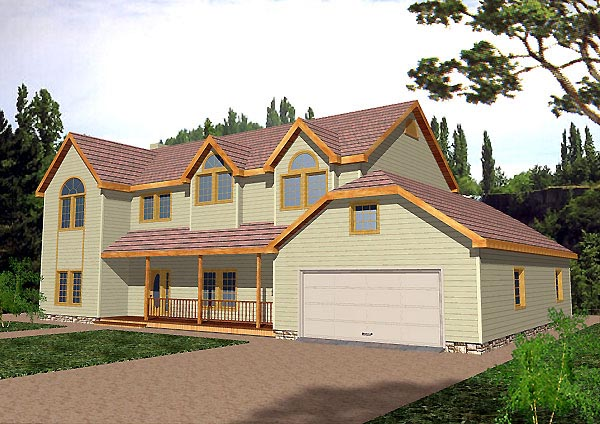 Country, Traditional House Plan 87137 with 6 Beds, 4 Baths, 2 Car Garage Elevation