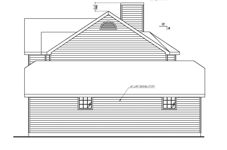 Country, Traditional House Plan 87137 with 6 Beds, 4 Baths, 2 Car Garage Picture 1