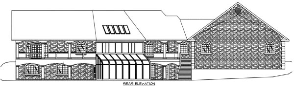 Mediterranean Ranch House Plan 87163 Rear Elevation