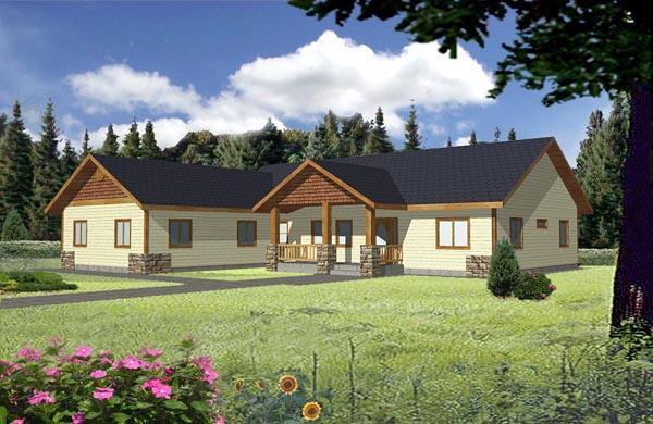 Ranch House Plan 87177