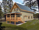 Plan Number 87191 - 1140 Square Feet