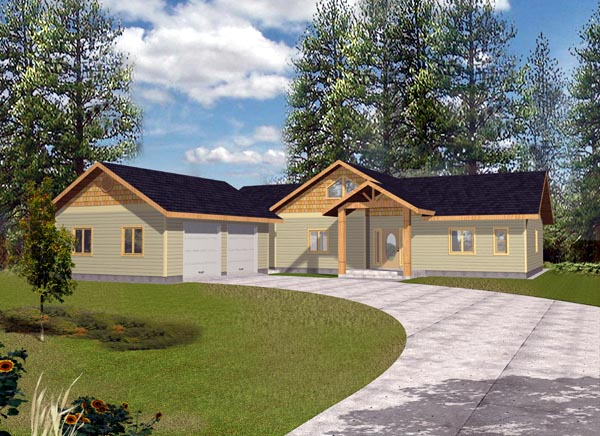 Ranch House Plan 87196 Elevation