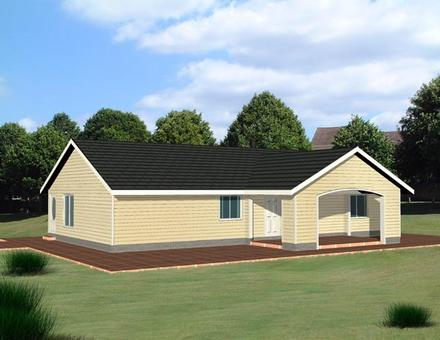 One-Story Ranch Elevation of Plan 87201