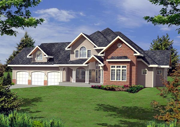 European Traditional House Plan 87238 Elevation