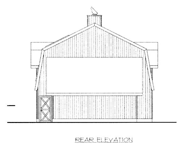Country House Plan 87255 Rear Elevation