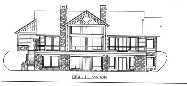 Ranch House Plan 87258 Rear Elevation