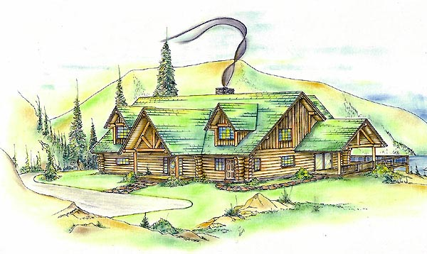 House Plan 87281 Elevation