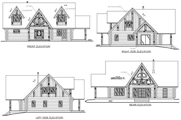 House Plan 87281 Rear Elevation
