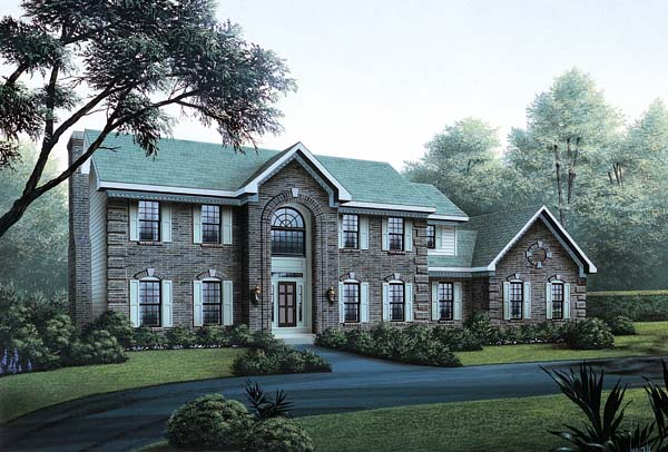 Colonial House Plan 87305