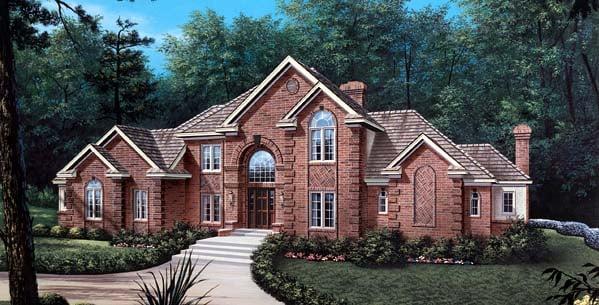 European Tudor House Plan 87307 Elevation