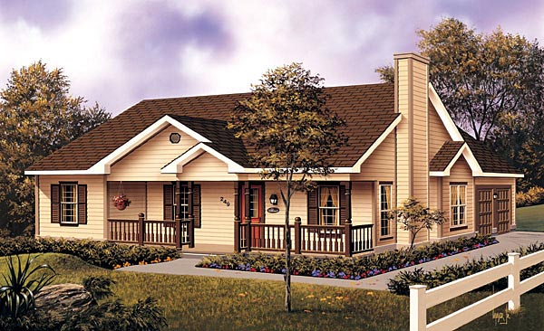 Country House Plan 87330 Elevation