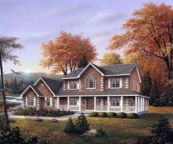 Farmhouse House Plan 87345 Elevation