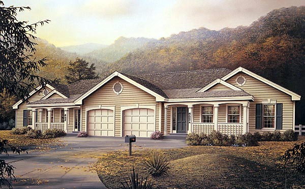 Ranch Multi-Family Plan 87347 Elevation