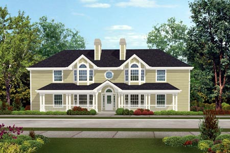 Country Multi-Family Plan 87348 Elevation