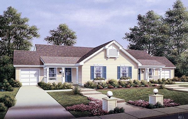 Multi family plan 87353 at - Multi unit house plans family friends ...