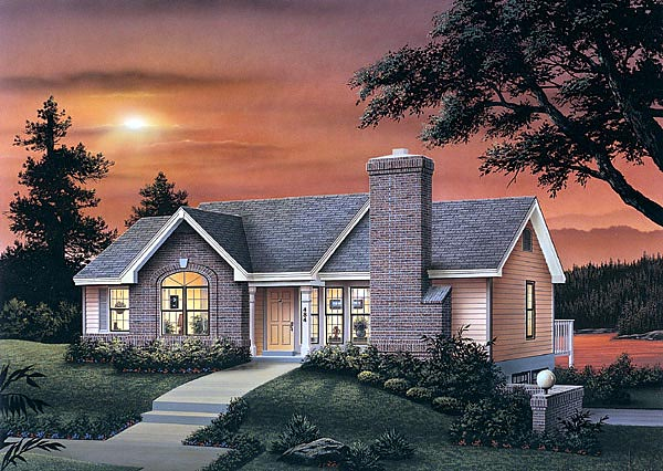 Traditional House Plan 87362 Elevation