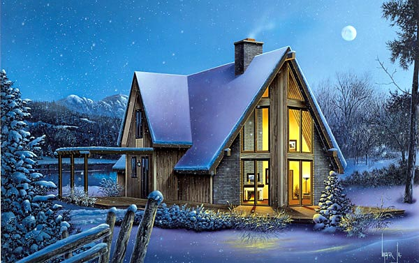 A-Frame House Plan 87366 Elevation