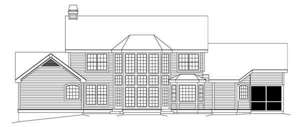 Farmhouse House Plan 87383 Rear Elevation