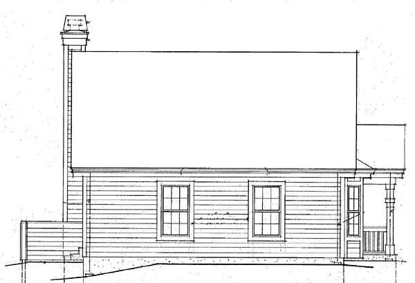 Country Rear Elevation of Plan 87390